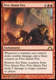 Magic the Gathering Gatecrash Single Five-Alarm Fire UNPLAYED