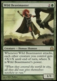 Magic the Gathering Return to Ravnica Single Wild Beastmaster UNPLAYED