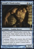 Magic the Gathering Dark Ascension Single Geralf's Mindcrusher UNPLAYED
