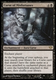 Magic the Gathering Dark Ascension Single Curse of Misfortunes UNPLAYED