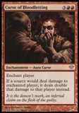 Magic the Gathering Dark Ascension Single Curse of Bloodletting UNPLAYED