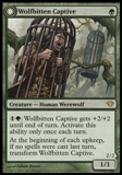 Magic the Gathering Dark Ascension Single Wolfbitten Captive UNPLAYED