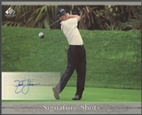 2005 SP Signature #ZJ Zach Johnson Signature Shots 8x10 Auto