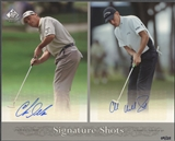 2005 SP Signature #CDCH Chris DiMarco & Charles Howell III Signature Shots Duals 8x10 Auto #09/25