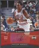 2005/06 UD Portraits #SP Scottie Pippen Signature Portraits 8x10 SP Auto