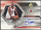 2004/05 SP Authentic #BG Ben Gordon Signatures Auto