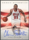 2004/05 SP Authentic #150 Chris Duhon Rookie Auto #0730/1499