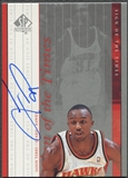 1999/00 SP Authentic #JT Jason Terry Sign of the Times Rookie Auto