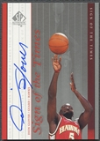 1999/00 SP Authentic #DG Dion Glover Sign of the Times Auto