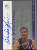 1999/00 SP Authentic #QL Quincy Lewis Sign of the Times Auto