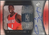 2005/06 SP Authentic #96 Martell Webster Rookie Auto 0208/1299