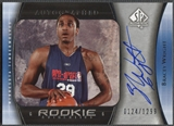 2005/06 SP Authentic #130 Bracey Wright Rookie Auto #0124/1299