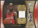 2005/06 SP Authentic #122 Jarrett Jack Limited Rookie Jersey Auto #045/100