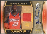 2005/06 SP Authentic #95 Raymond Felton Limited Extra Rookie Patch Auto #08/25
