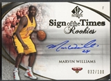 2005/06 SP Authentic #MW Marvin Williams Sign of the Times Rookie Auto #032/100