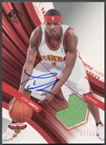2004/05 SP Authentic #JS Josh Smith Fabrics Rookie Jersey Auto #37/50