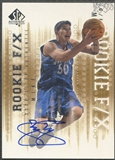 2000/01 SP Authentic #95 Mike Miller Rookie Auto #440/500