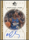 2000/01 SP Authentic #MC Mateen Cleaves Sign of the Times Rookie Auto