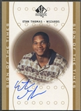 2000/01 SP Authentic #ET Etan Thomas Sign of the Times Rookie Auto