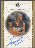 2000/01 SP Authentic #SC Speedy Claxton Sign of the Times Rookie Auto