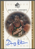 2000/01 SP Authentic #GP Gary Payton Sign of the Times Auto
