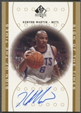 2000/01 SP Authentic #KM Kenyon Martin Sign of the Times Rookie Auto