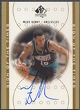 2000/01 SP Authentic #MB Mike Bibby Sign of the Times Auto