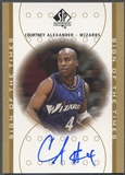 2000/01 SP Authentic #CA Courtney Alexander Sign of the Times Rookie Auto