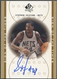 2000/01 SP Authentic #SJ Stephen Jackson Sign of the Times Rookie Auto