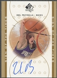 2000/01 SP Authentic #JP Joel Przybilla Sign of the Times Rookie Auto