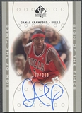 2000/01 SP Authentic #JC Jamal Crawford Sign of the Times Platinum Rookie Auto #107/200