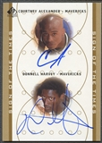 2000/01 SP Authentic #CADH Courtney Alexander & Donnell Harvey Sign of the Times Double Rookie Auto