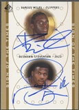 2000/01 SP Authentic #DADS Darius Miles & DeShawn Stevenson Sign of the Times Double Rookie Auto