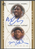 2000/01 SP Authentic #MCMP Mateen Cleaves & Morris Peterson Sign of the Times Double Rookie Auto