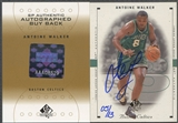 2000/01 SP Authentic #113 Antoine Walker 1998/99 SPA BuyBack Auto #05/13