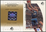2000/01 SP Authentic #108 Jerry Stackhouse 1999/00 SPA BuyBack Auto #12/14