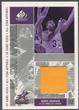 2002/03 SP Game Used #MGAS Magic Johnson All-Star Apparel Jersey