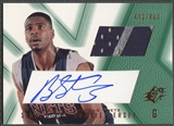 2001/02 SPx #95 Brandon Armstrong Rookie Jersey Auto #472/800