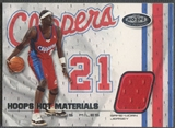 2001/02 Hoops Hot Prospects #2 Darius Miles Hot Materials Jersey