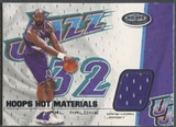 2001/02 Hoops Hot Prospects #12 Karl Malone Hot Materials Jersey
