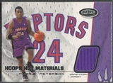 2001/02 Hoops Hot Prospects #10 Morris Peterson Hot Materials Jersey