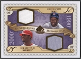2009 SP Legendary Cuts #GMPG Kirby Puckett & Ken Griffey Jr. Generations Dual Jersey