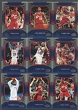 2004/05 SP Game Used Lebron James Season In Review 17 Card Lot /999