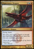 Magic the Gathering Return to Ravnica Single Hypersonic Dragon Foil - NEAR MINT (NM)