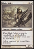Magic the Gathering New Phyrexia Single Blade Splicer UNPLAYED