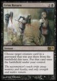 Magic the Gathering 2014 Single Grim Return UNPLAYED x4 (Playset)