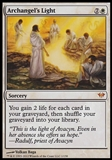 Magic the Gathering Dark Ascension Single Archangel's Light UNPLAYED