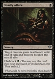 Magic the Gathering Dark Ascension Single Deadly Allure Foil UNPLAYED