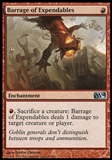 Magic the Gathering 2014 Single Barrage of Expendables Foil UNPLAYED