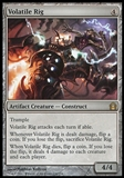 Magic the Gathering Return to Ravnica Single Volatile Rig Foil UNPLAYED